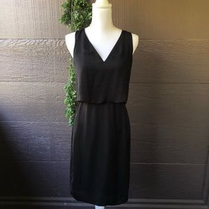 Madewell Luminous Overlay Black Party Dress
